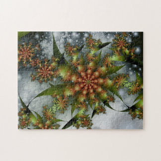 Happy Holidays Fractal Jigsaw Puzzle