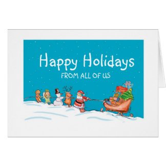 Happy Holidays from all of us - Teamwork Card