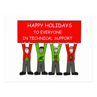 Happy Holidays from everyone in IT Postcard