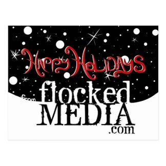 Happy Holidays from Flocked Media Postcard