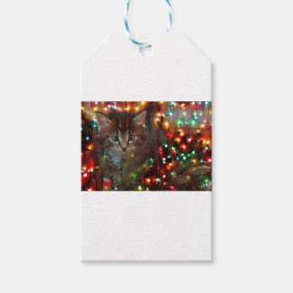 Happy holidays from Kitty Gift Tags