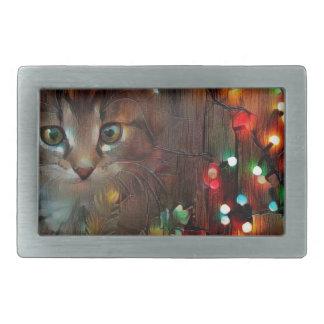 Happy holidays from Kitty Rectangular Belt Buckle