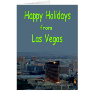 Happy Holidays from Las Vegas Card