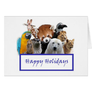 Happy Holidays from our Zoo! Card