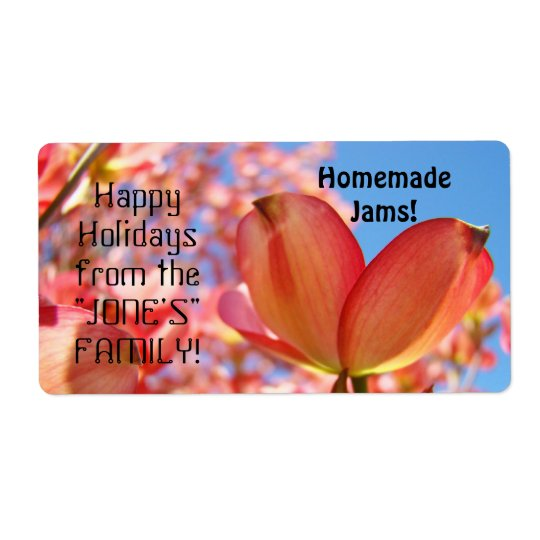 Happy Holidays from the Name Family! Homemade gift Shipping Label