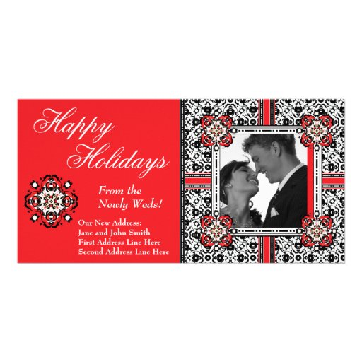 Happy Holidays from the Newly Weds Christmas Card Photo Card Template