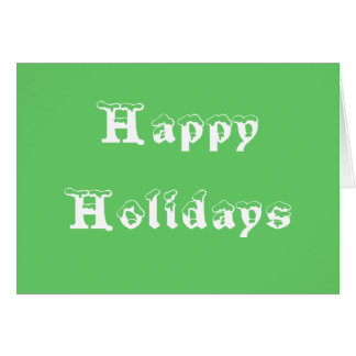 Happy Holidays From VEGAS Greeting Cards