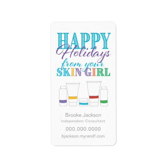 Happy Holidays from Your Skin Girl - Sticker Label