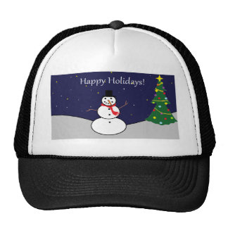Happy Holidays Frosty Gear Cap