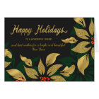 Happy Holidays Gold Poinsettia Special Friend Card