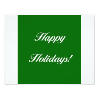 Happy_Holidays_Green 11 Cm X 14 Cm Invitation Card