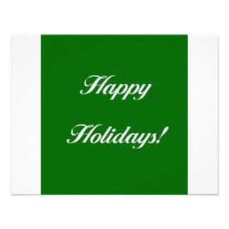 Happy_Holidays_Green Personalized Invite
