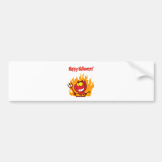 Happy Holidays Greeting With Halloween Devil Bumper Sticker