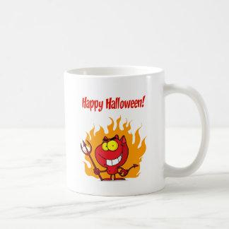 Happy Holidays Greeting With Halloween Devil Mug