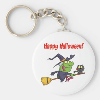 Happy Holidays Greeting With Harrison Basic Round Button Key Ring