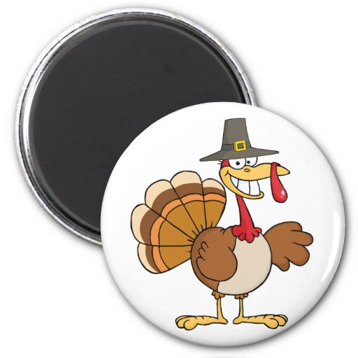Happy Holidays Greeting With Turkey Fridge Magnets