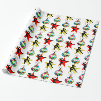 HAPPY HOLIDAYS GYMNASTICS CHRISTMAS GIFTS WRAPPING PAPER