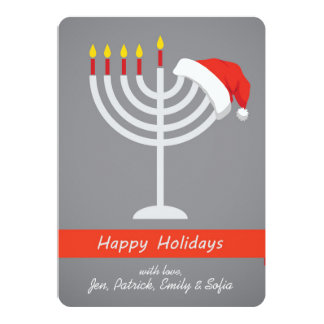 Happy Holidays, Happy Holidays And Happy 13 Cm X 18 Cm Invitation Card