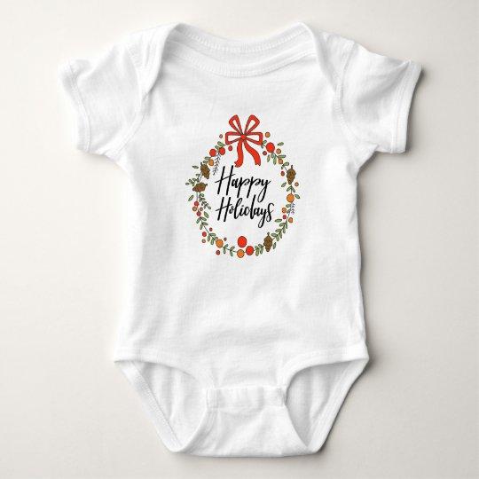 Happy Holidays, Holiday Fun Baby Bodysuit