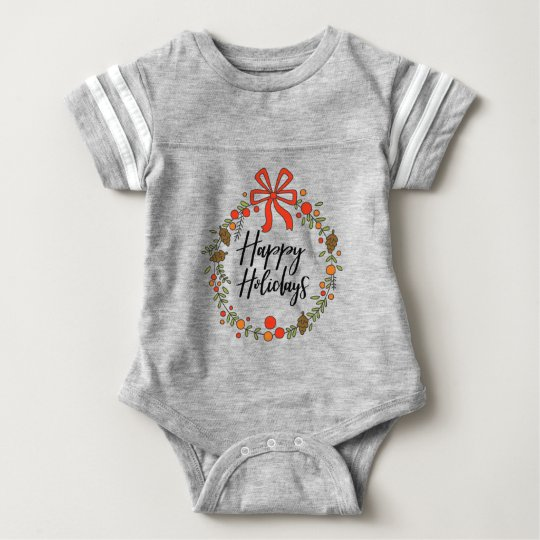 Happy Holidays, Holiday Fun Baby Bodysuit