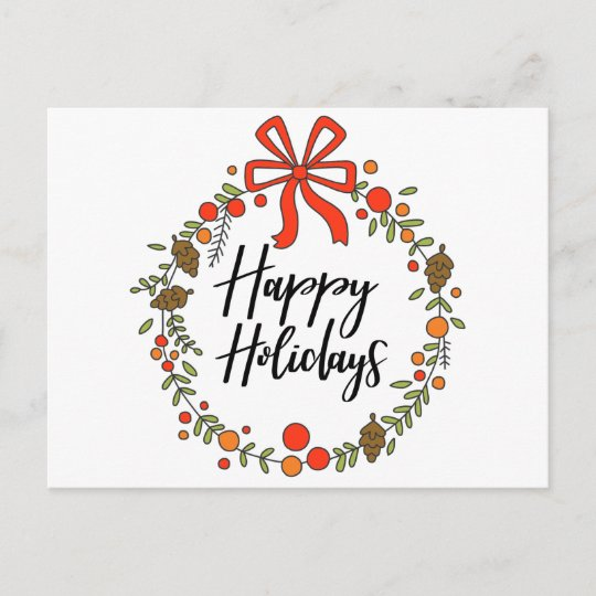 Happy Holidays, Holiday Fun Christmas Postcard