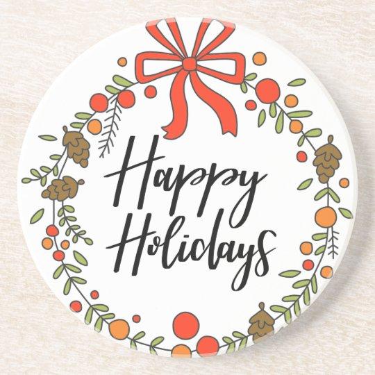 Happy Holidays, Holiday Fun Coaster