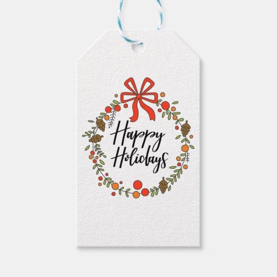 Happy Holidays, Holiday Fun Gift Tags