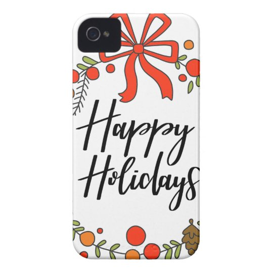 Happy Holidays, Holiday Fun iPhone 4 Case