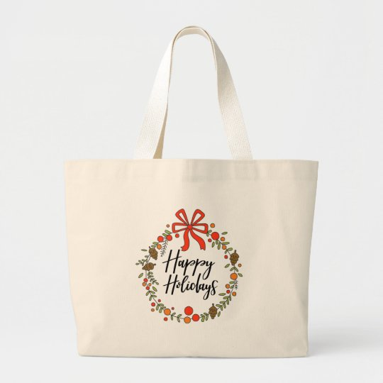 Happy Holidays, Holiday Fun Large Tote Bag