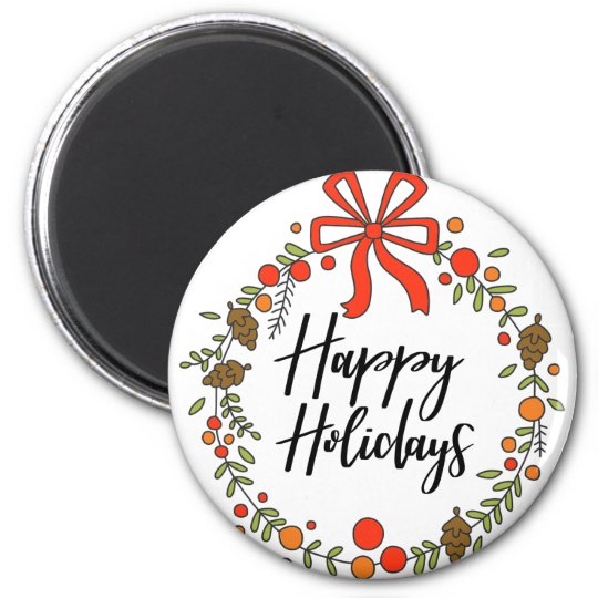 Happy Holidays, Holiday Fun Magnet