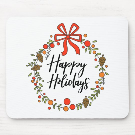 Happy Holidays, Holiday Fun Mouse Pad