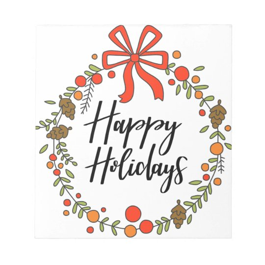 Happy Holidays, Holiday Fun Notepad