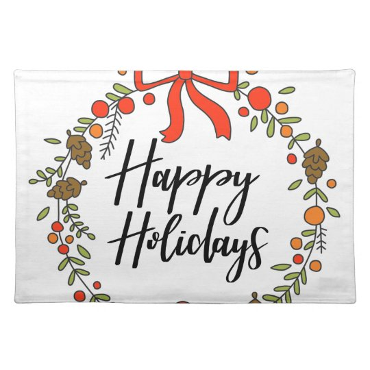 Happy Holidays, Holiday Fun Placemat