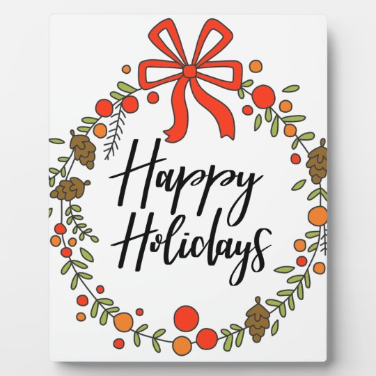 Happy Holidays, Holiday Fun Plaque