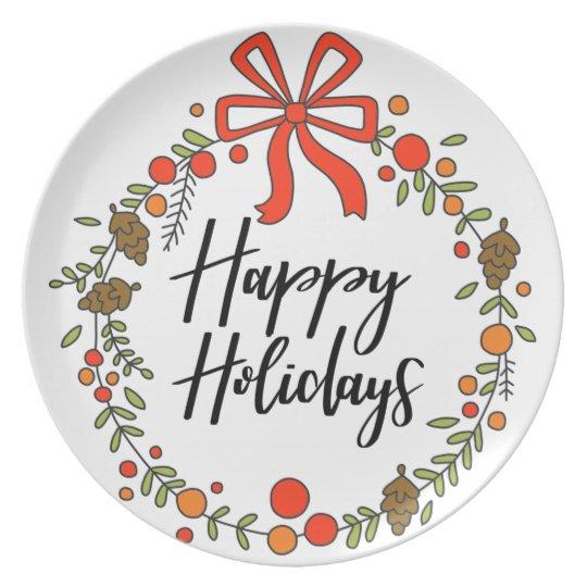 Happy Holidays, Holiday Fun Plate