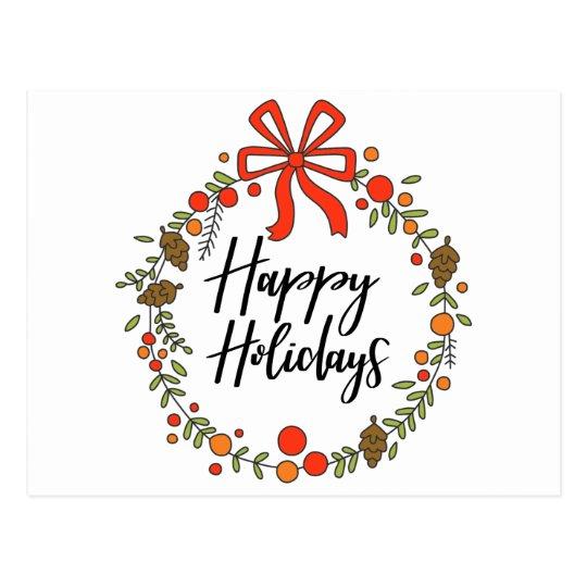 Happy Holidays, Holiday Fun Postcard