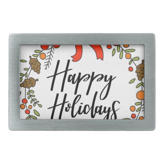 Happy Holidays, Holiday Fun Rectangular Belt Buckles