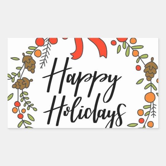 Happy Holidays, Holiday Fun Rectangular Sticker