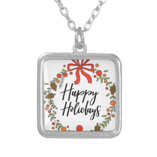 Happy Holidays, Holiday Fun Silver Plated Necklace