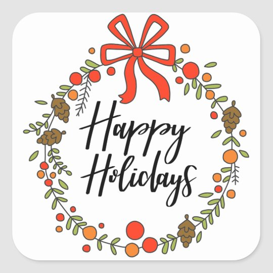 Happy Holidays, Holiday Fun Square Sticker