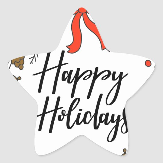 Happy Holidays, Holiday Fun Star Sticker