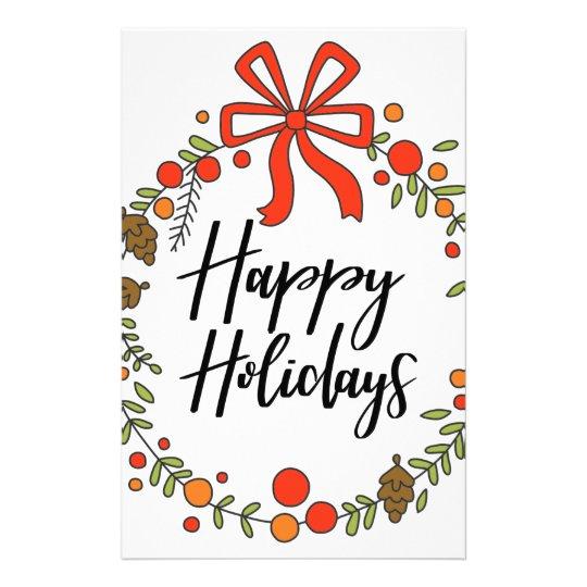Happy Holidays, Holiday Fun Stationery