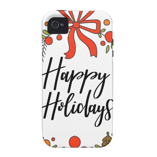 Happy Holidays, Holiday Fun Vibe iPhone 4 Cases