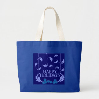 Happy Holidays Holly Tote Bags