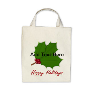 Happy Holidays Holly - Deep Shopping Bag