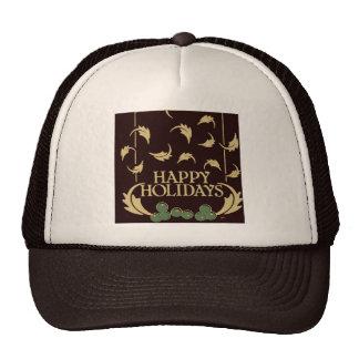 Happy Holidays Holly Trucker Hat