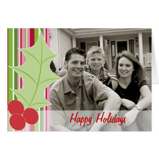 Happy Holidays   Holly Photo Card