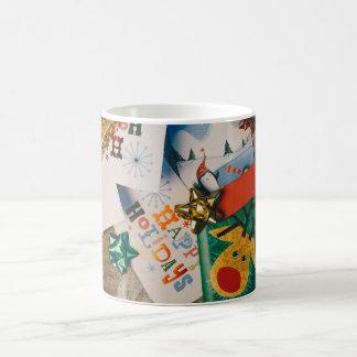 Happy holidays hot chocolate mug