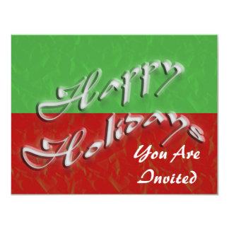 Happy Holidays Custom Invite