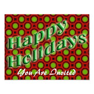 Happy Holidays 4.25x5.5 Paper Invitation Card